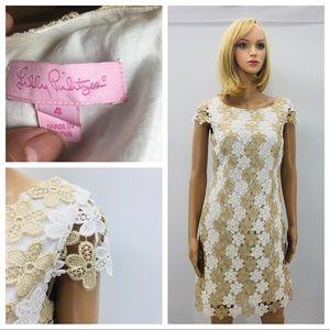Lily Pulitzer Barbara lace shift dress size 4